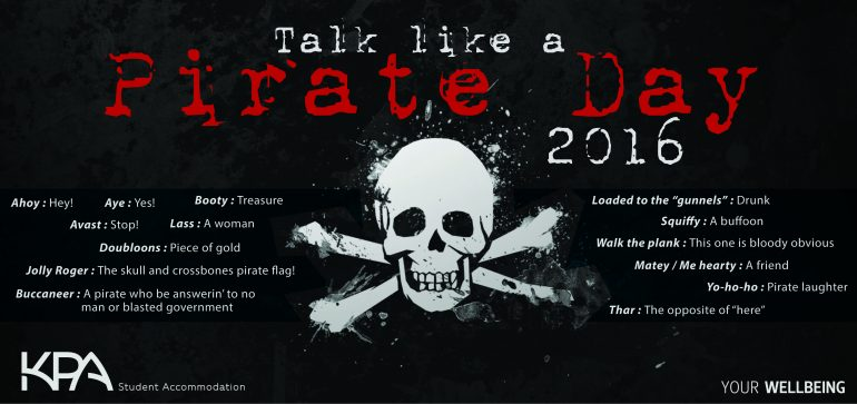 Talk Like A Pirate Day 2016-01 KPA Student Accommodation