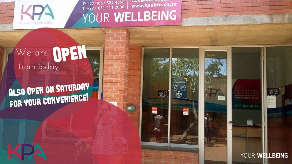 KPA Student Accommodation open